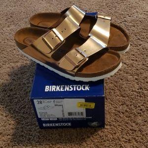 Birkenstock Arizona BS Metallic Copper Sandals